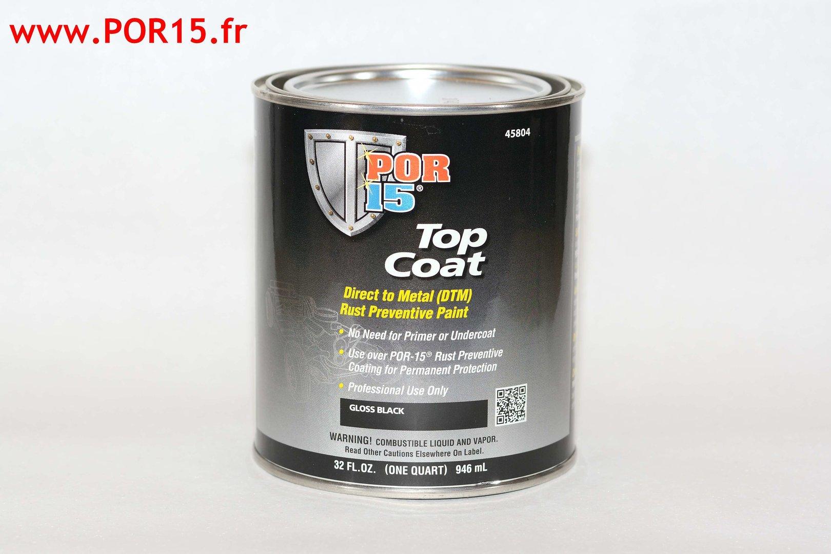POR15 TOP COAT GLOSS BLACK SIXPACK (6x 113 ml)