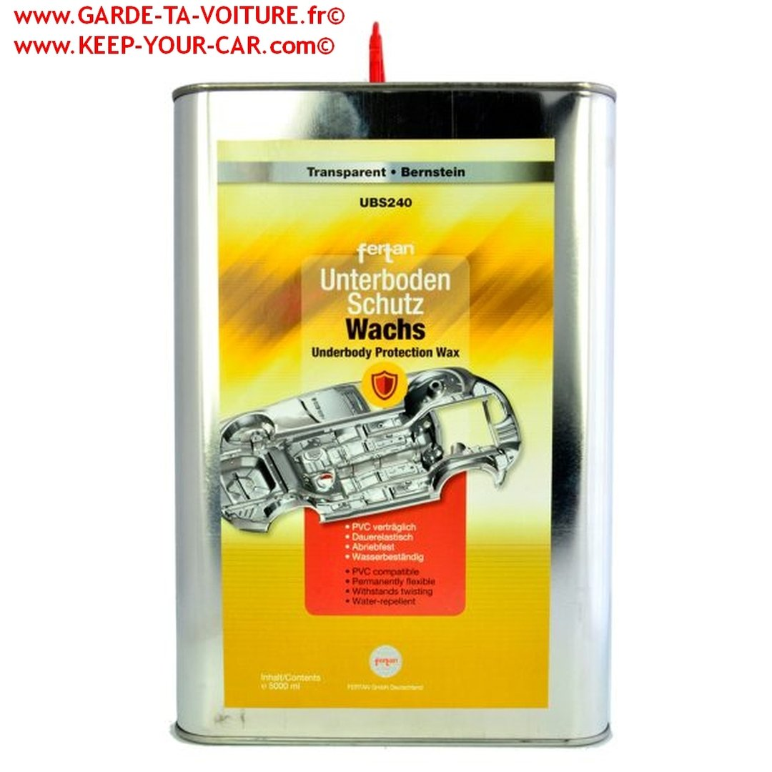fertan ubs 240 5l transparent cire protection pour chassis et sous bassements garde ta voiture. Black Bedroom Furniture Sets. Home Design Ideas