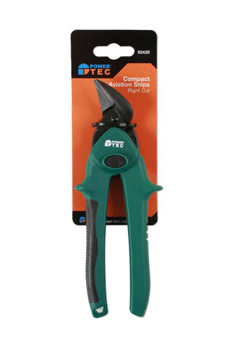 Powertec 92426 Compact Aviation Snips - Right Cut