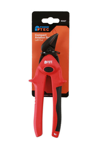 Powertec 92427 Compact Aviation Snips - Left Cut