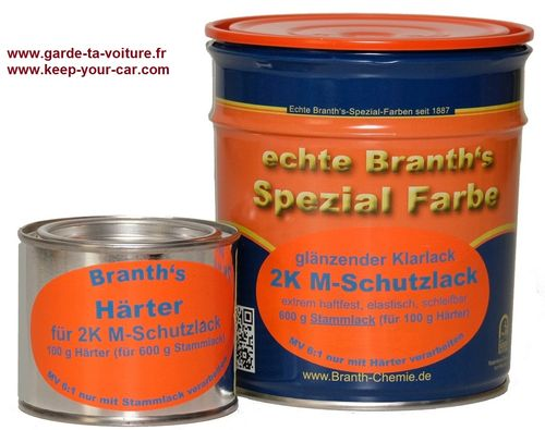 Branth's 2K (M) vernis de protection transparent brillant (2 composants) (600+100g)